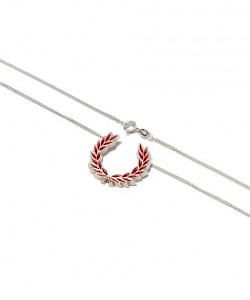 Silver Laurel Wreath Necklace - MS2704
