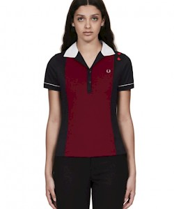 Amy Panelled Piqué Polo Shirt - SG4131