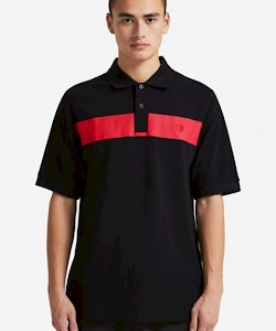 SPORTS AUTHENTIC Printed Chest Panel Polo Shirt - M5538